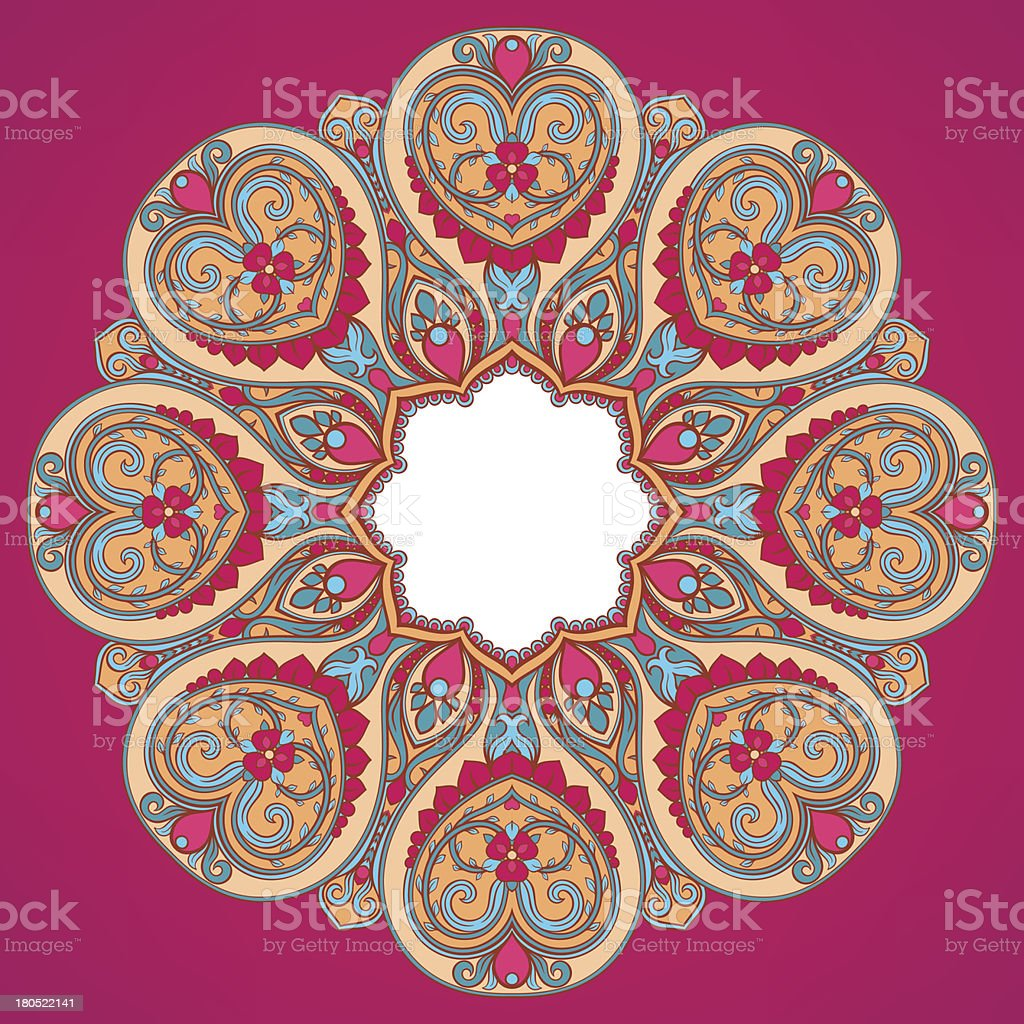 round pink pattern royalty-free stock vector art