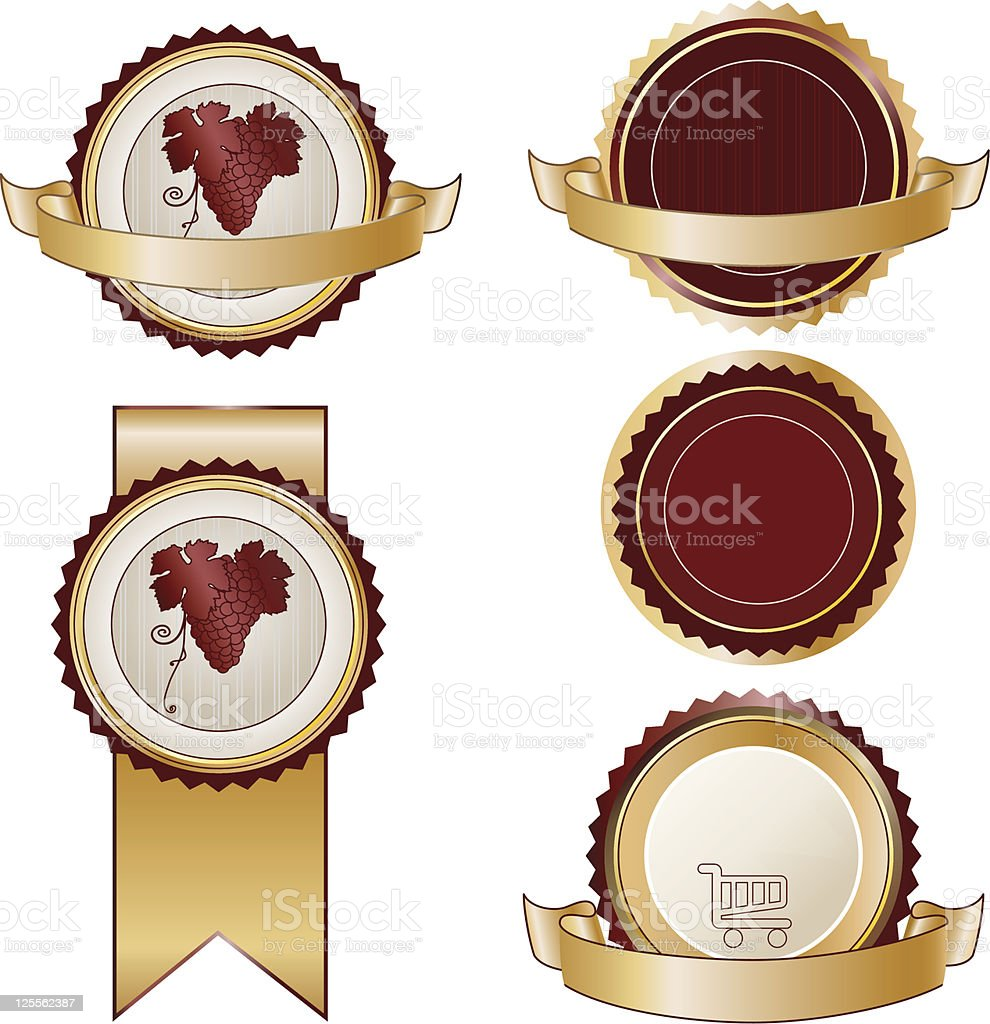 Round product labels royalty-free stock vector art