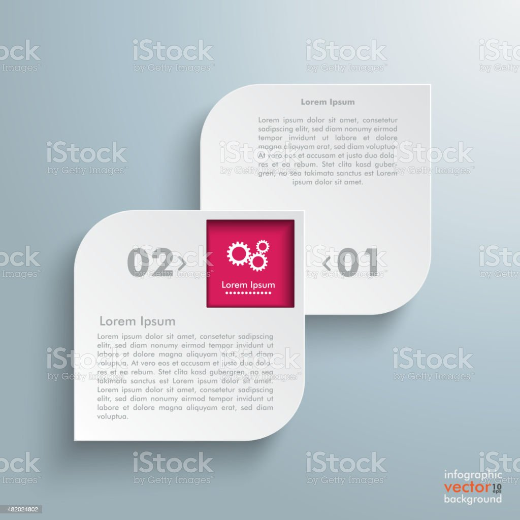 Round Quadrates Template 2 Options 1 Hole vector art illustration
