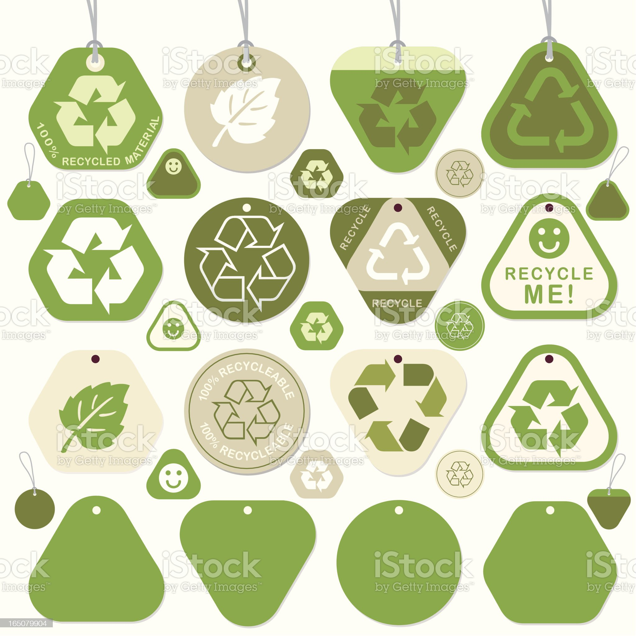 Round Recycle Tags royalty-free stock vector art
