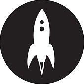 Round Rocket Icon