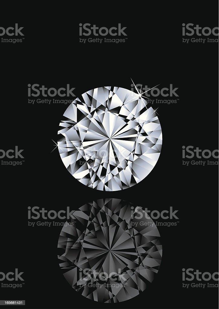 Round Shape Gem vector art illustration