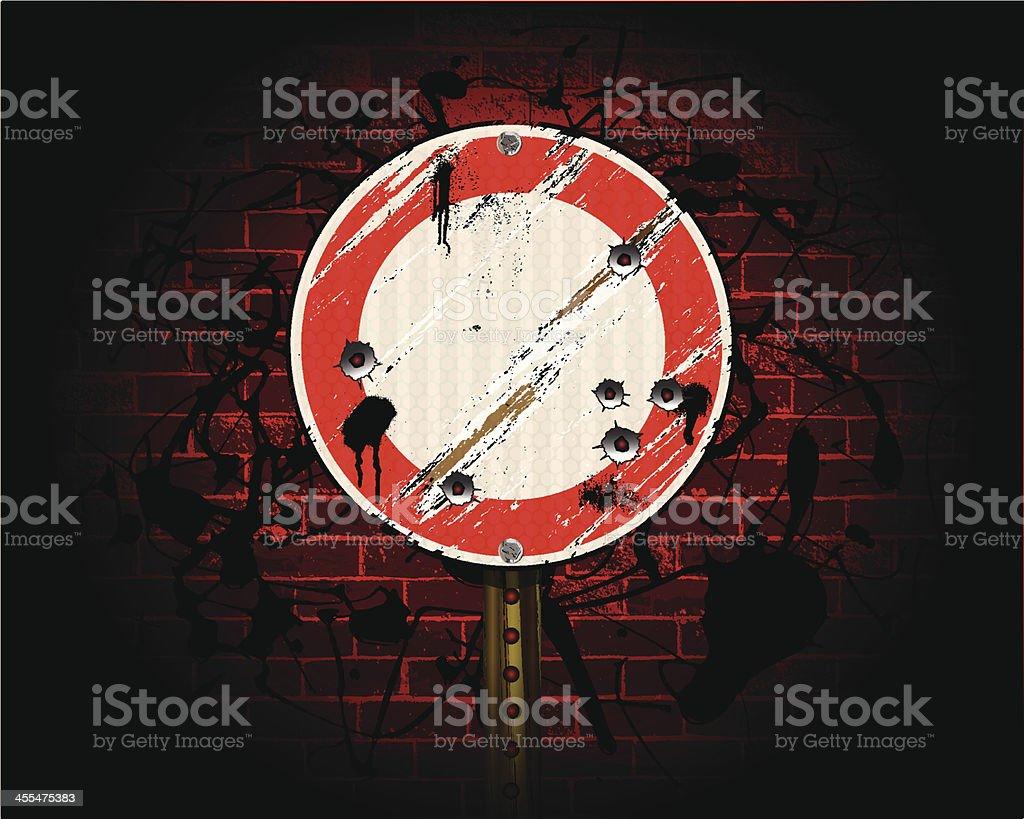 Round Sign | Urban Grunge Background royalty-free stock vector art