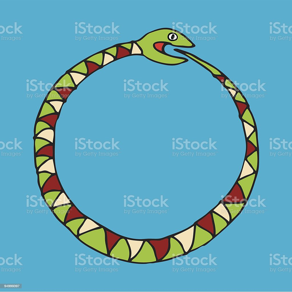 round snake royalty-free stock vector art