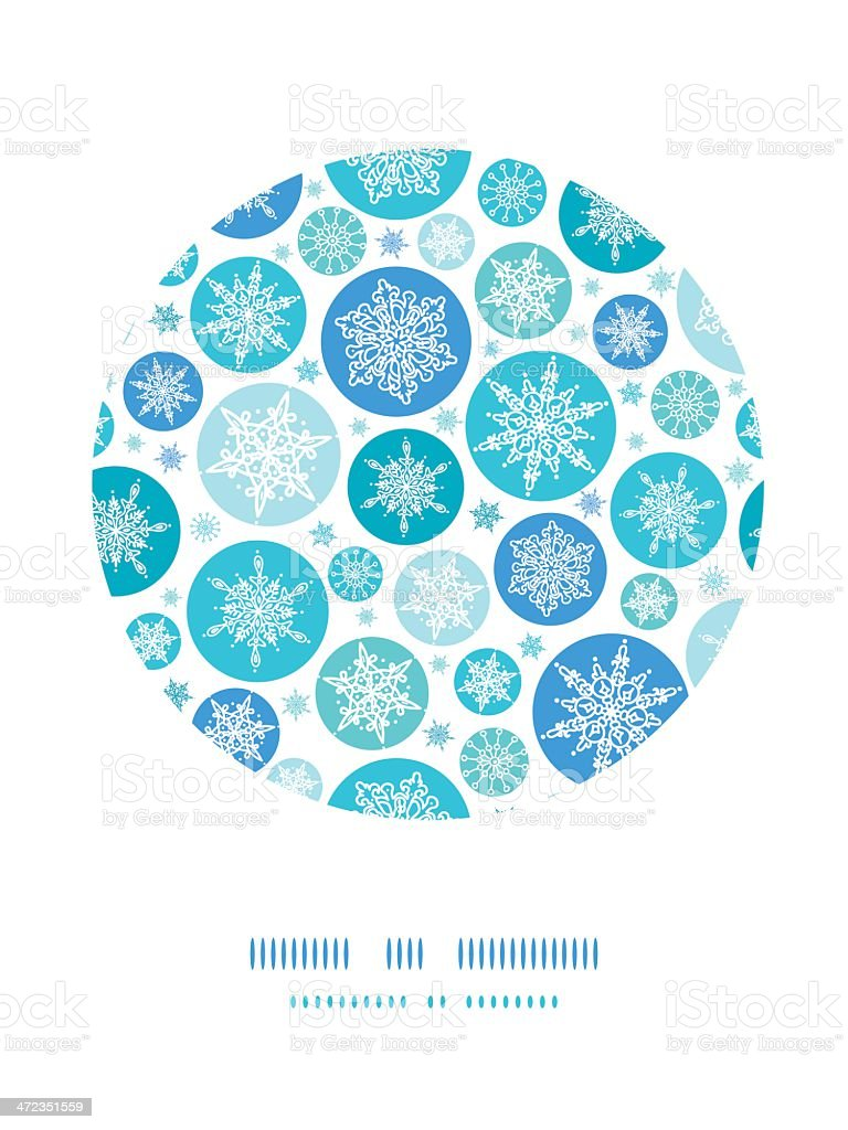 Round Snowflakes Circle Decor Pattern Background royalty-free stock vector art