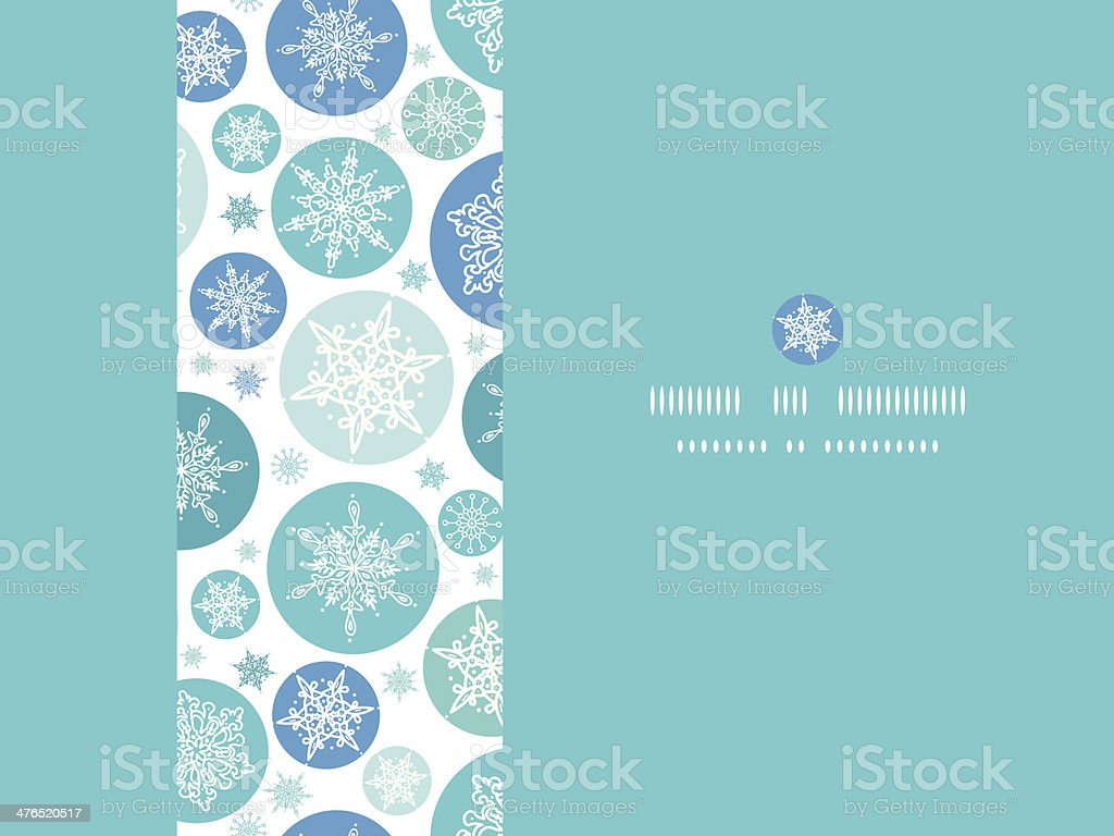 Round Snowflakes Horizontal Seamless Pattern Background royalty-free stock vector art