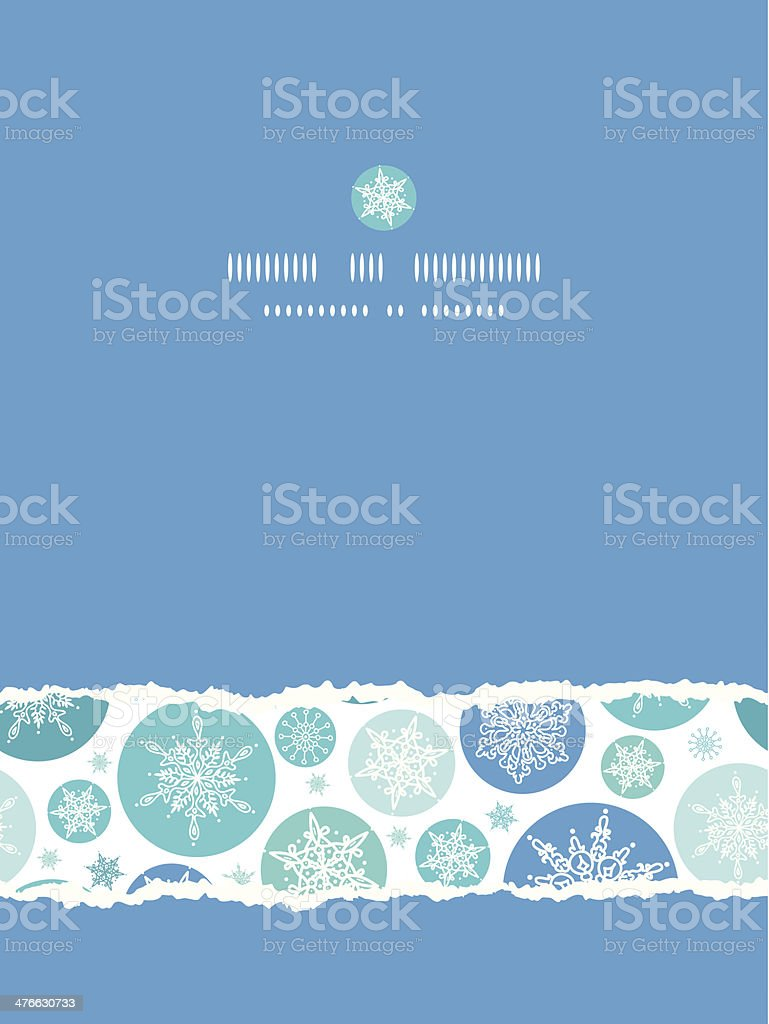 Round Snowflakes Vertical Torn Seamless Pattern Background royalty-free stock vector art