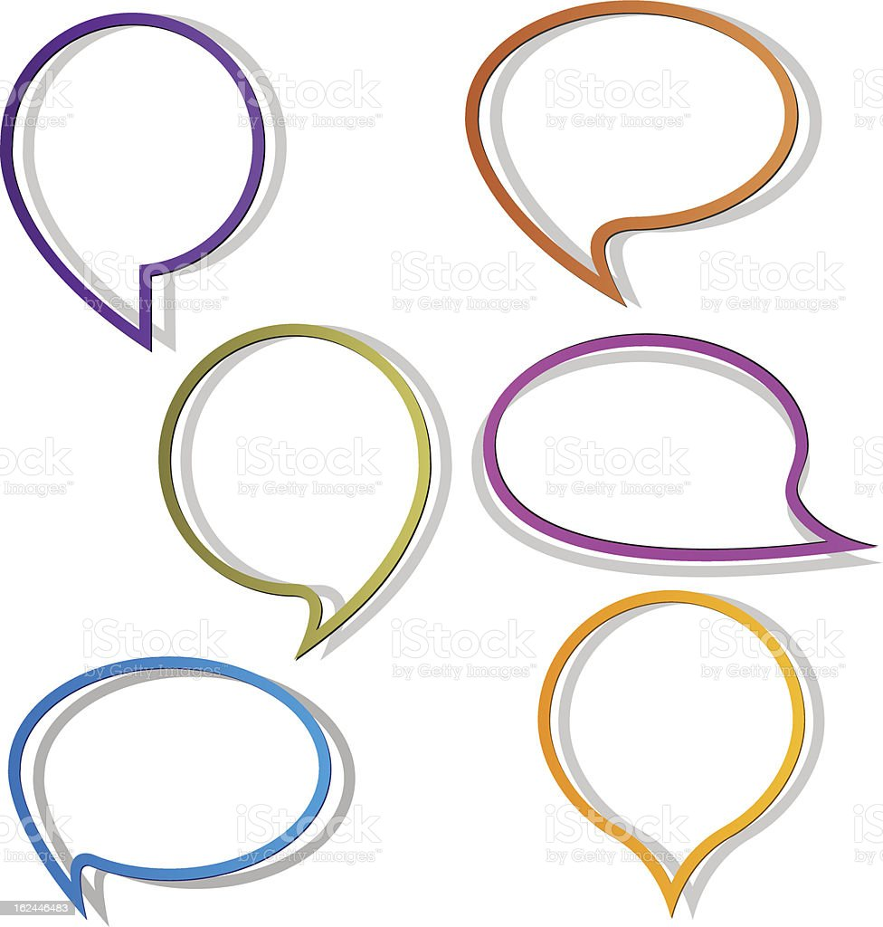Round Speech Bubbles royalty-free stock vector art