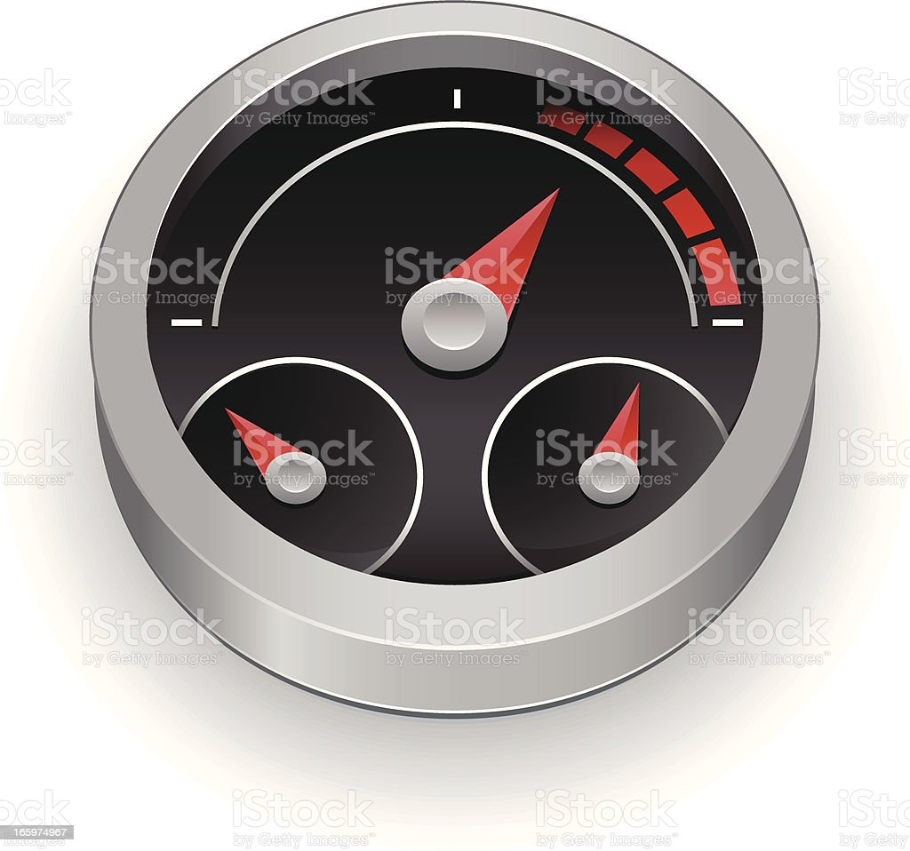 Round speedometer icon gauge illustration royalty-free stock vector art