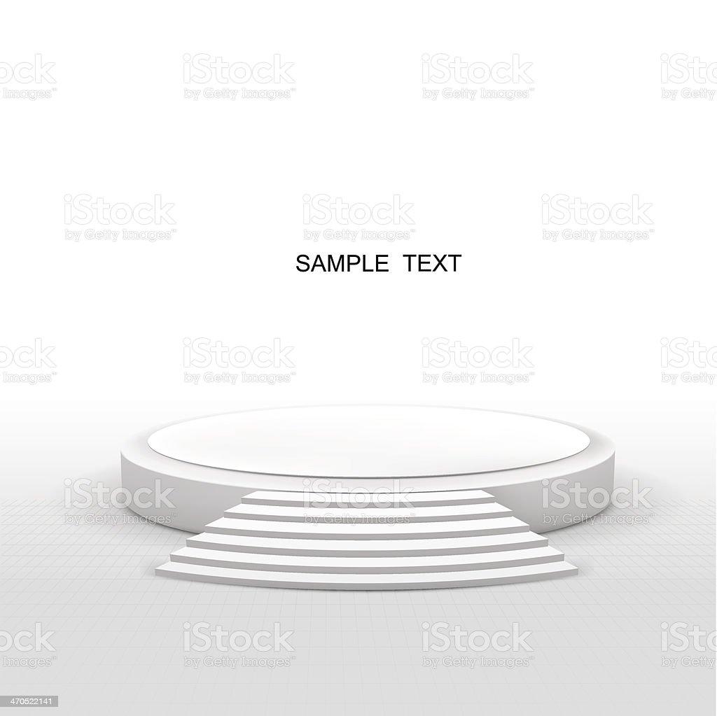 round stage vector art illustration