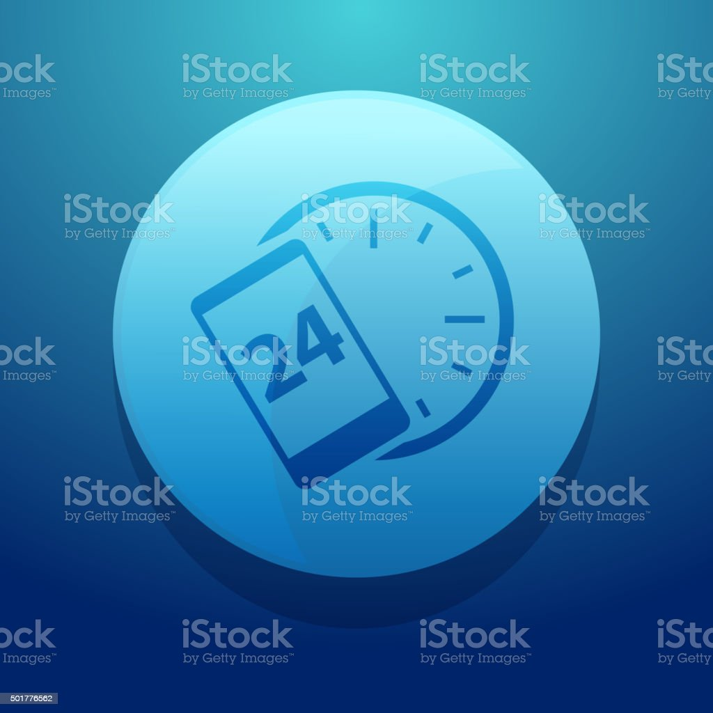 Round the Clock Icon vector art illustration