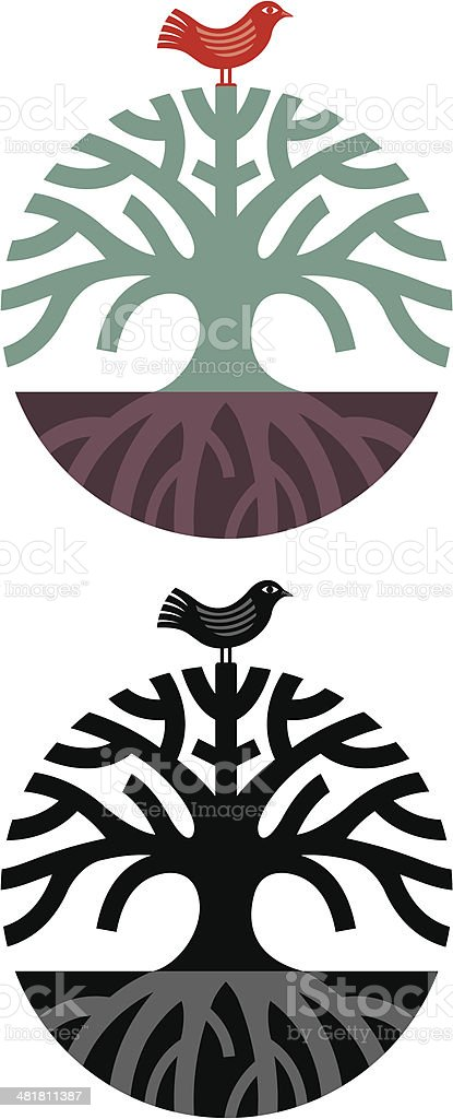 Round tree symbol royalty-free stock vector art