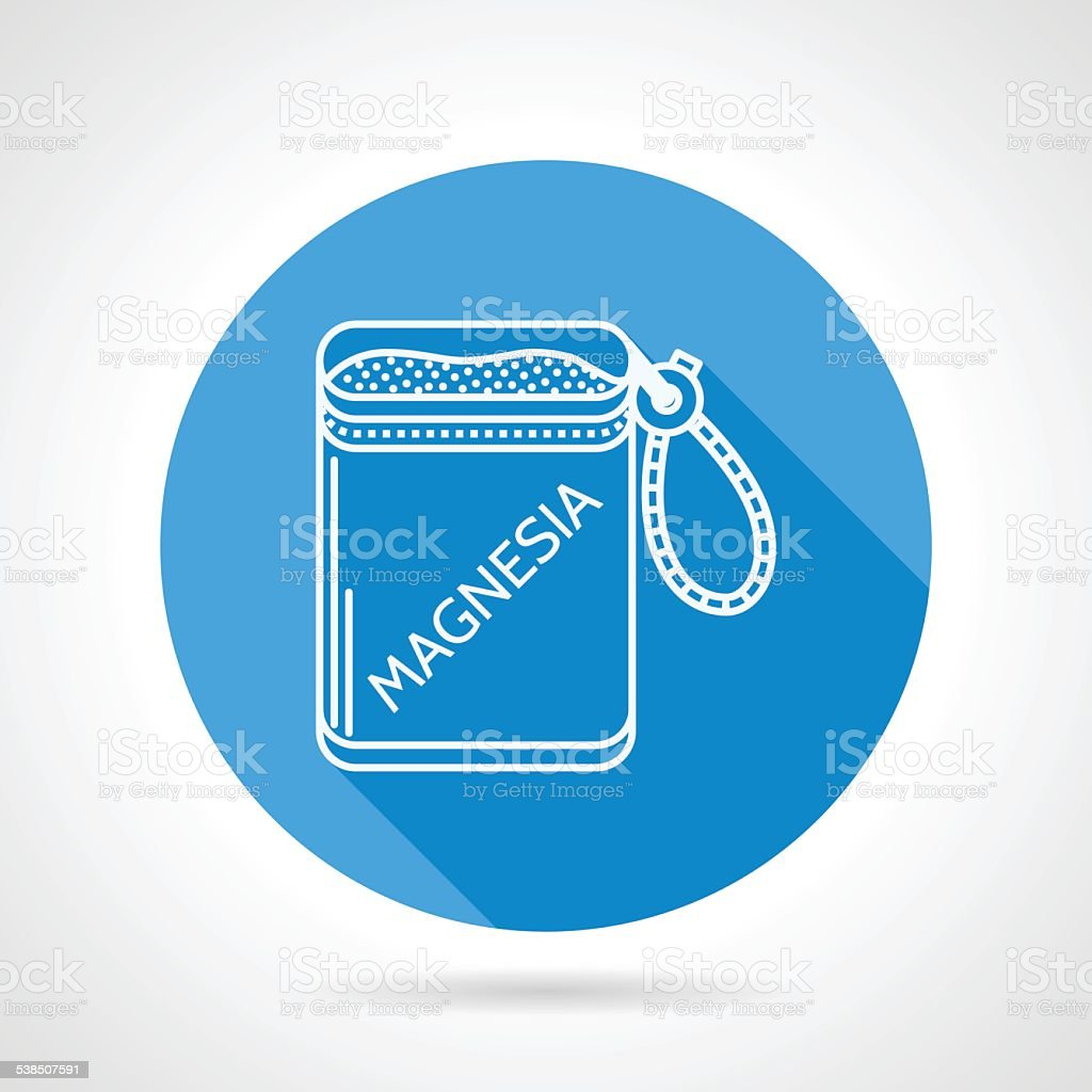 Round vector icon for magnesia bag vector art illustration