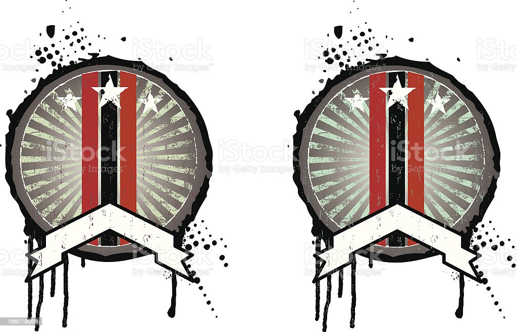 round vintage grunge shields royalty-free stock vector art