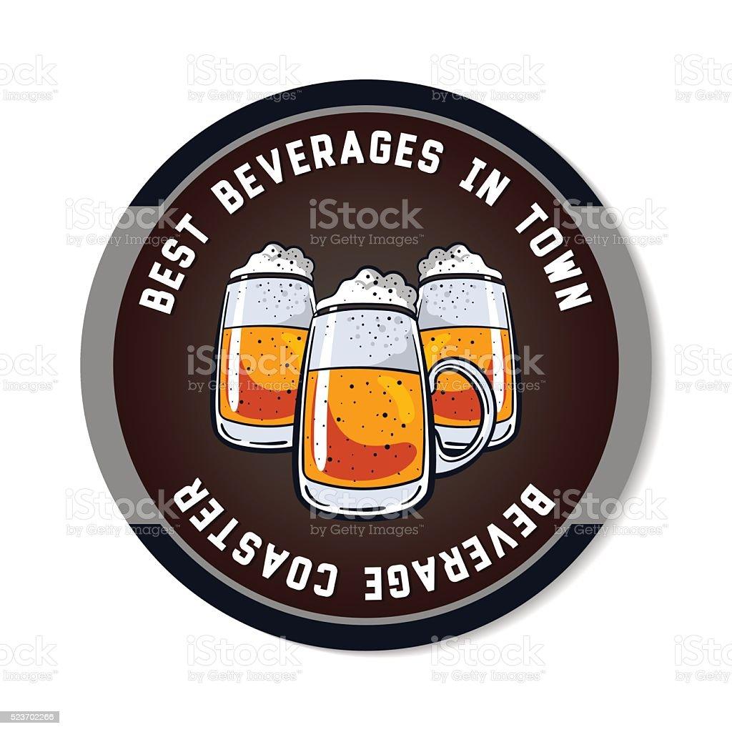 Round_Beverage_Coaster_Color vector art illustration