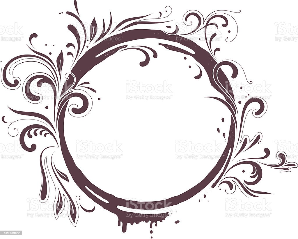 round_frame royalty-free stock vector art