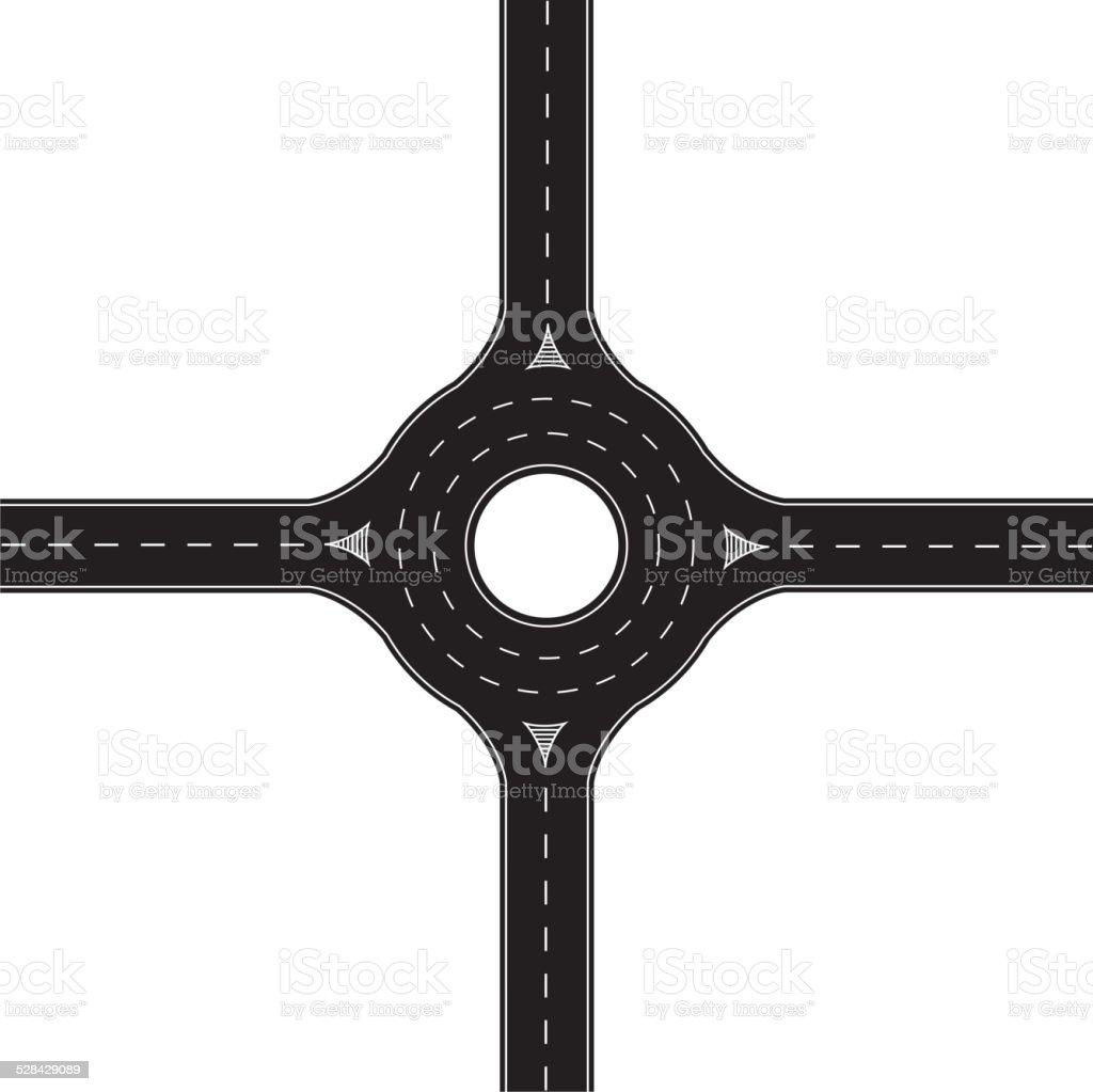 Roundabout vector art illustration