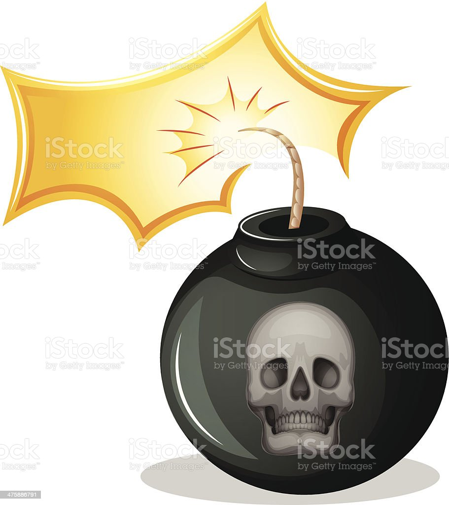 rounded bomb royalty-free stock vector art