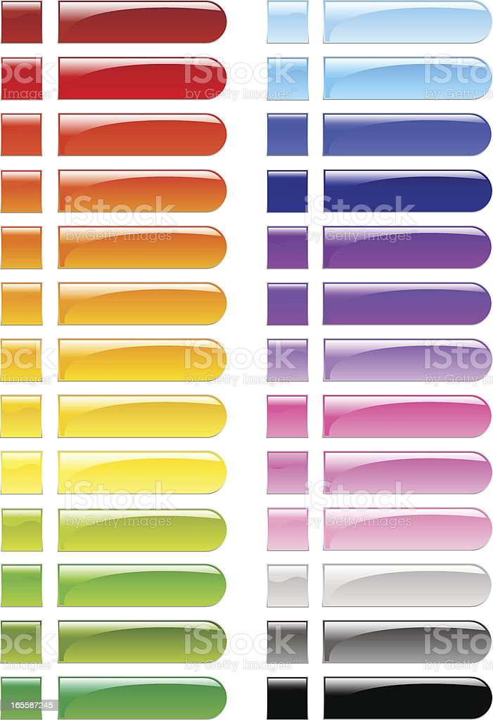 Rounded Buttons royalty-free stock vector art