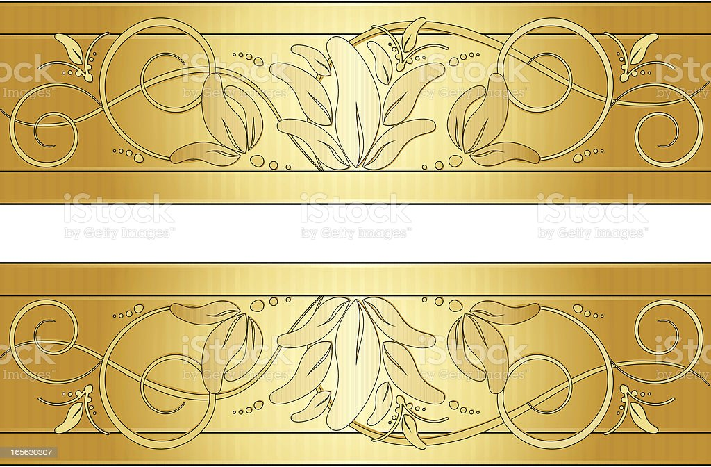 Abgerundete mit Swirl Hintergrund Design-Elemente-Set-Gold Lizenzfreies vektor illustration