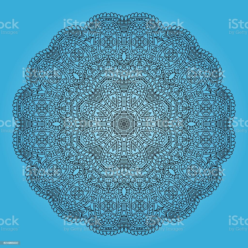 Rounded ornament. vector art illustration