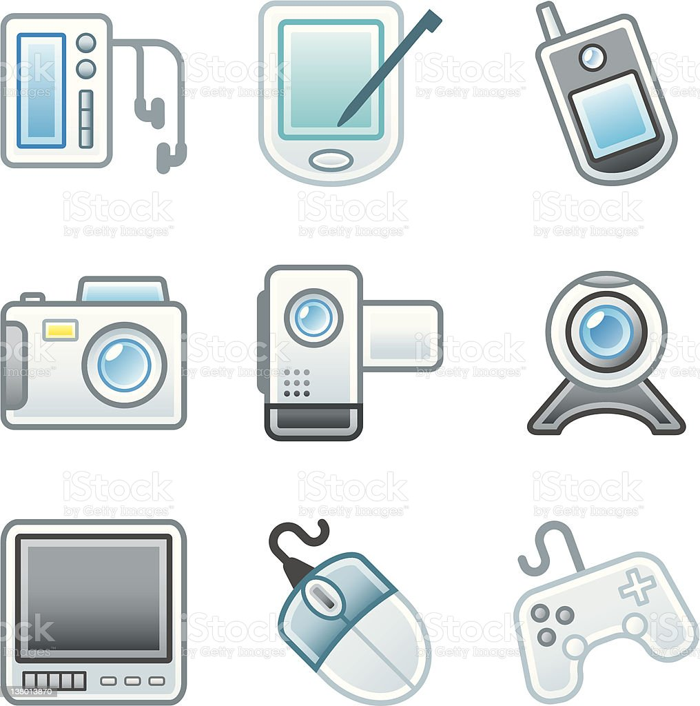 'Roundi' Icon Set - Multimedia royalty-free stock vector art