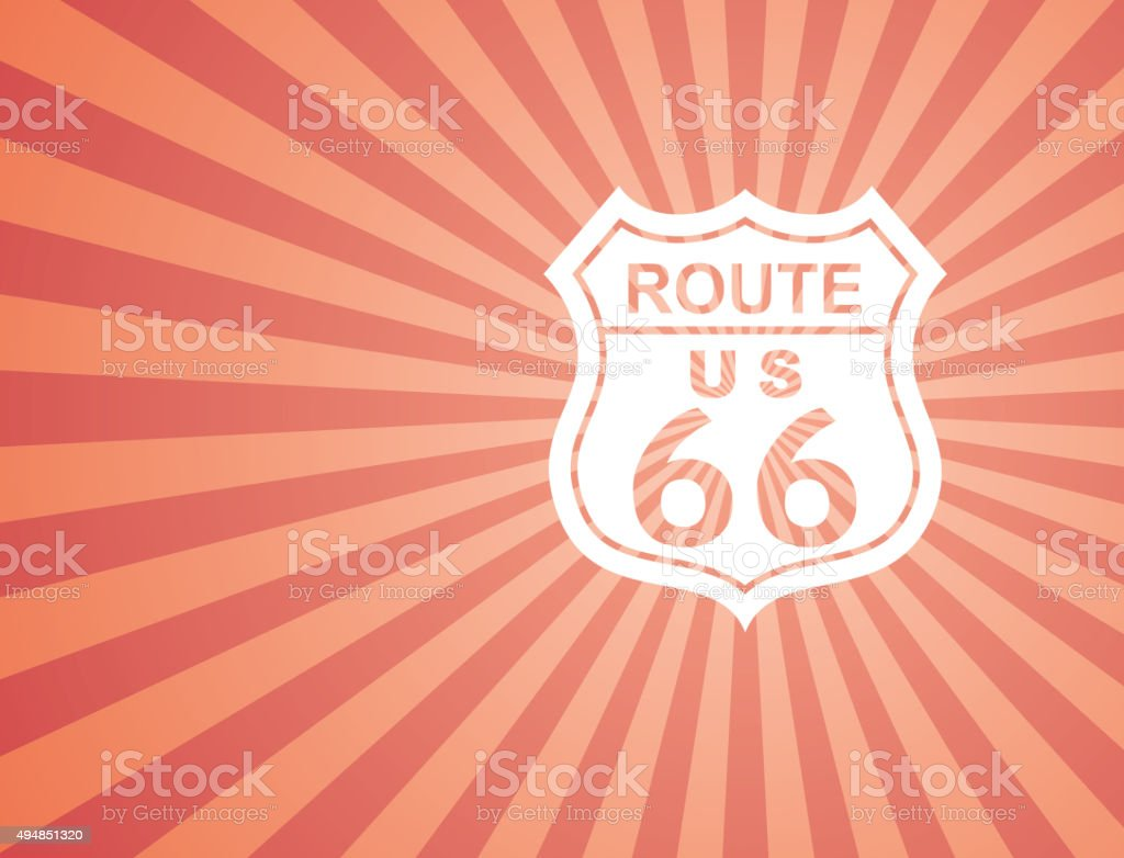 route 66 background vector art illustration