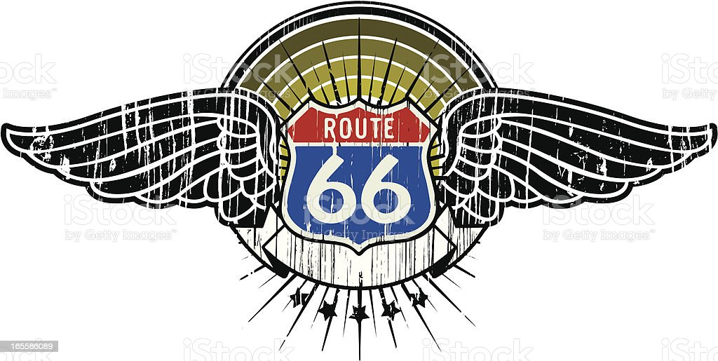 route 66 insignia royalty-free stock vector art