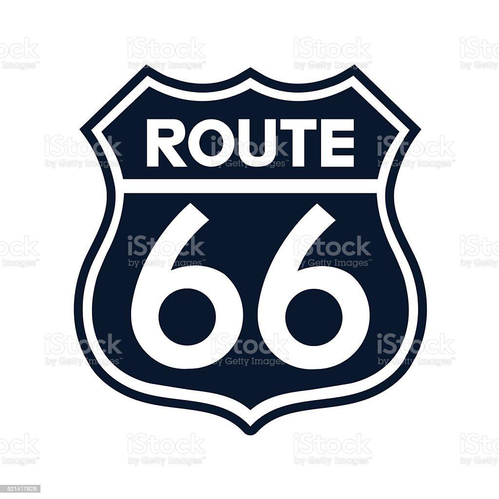 Route 66 Sign Illustration - VECTOR vector art illustration