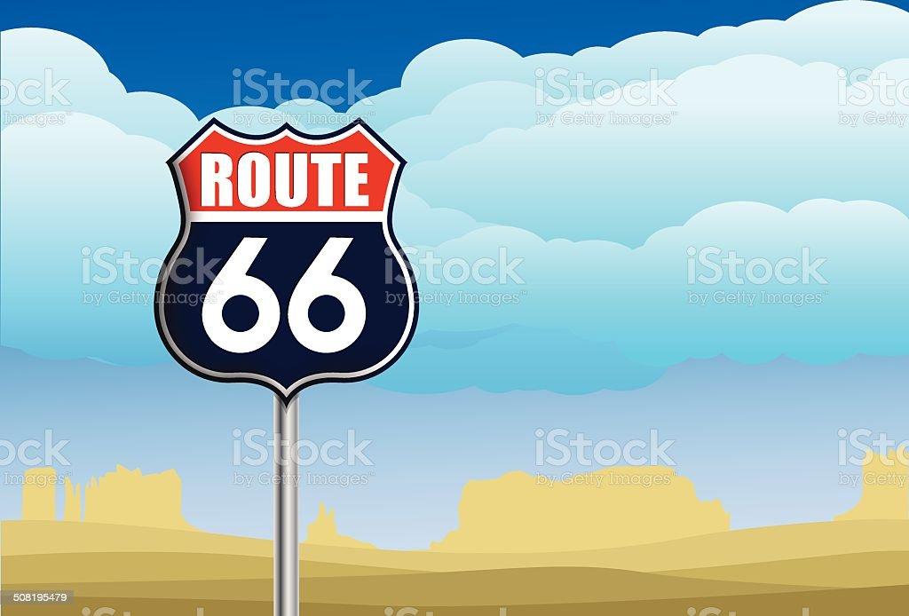 Signe de la Route 66 stock vecteur libres de droits libre de droits