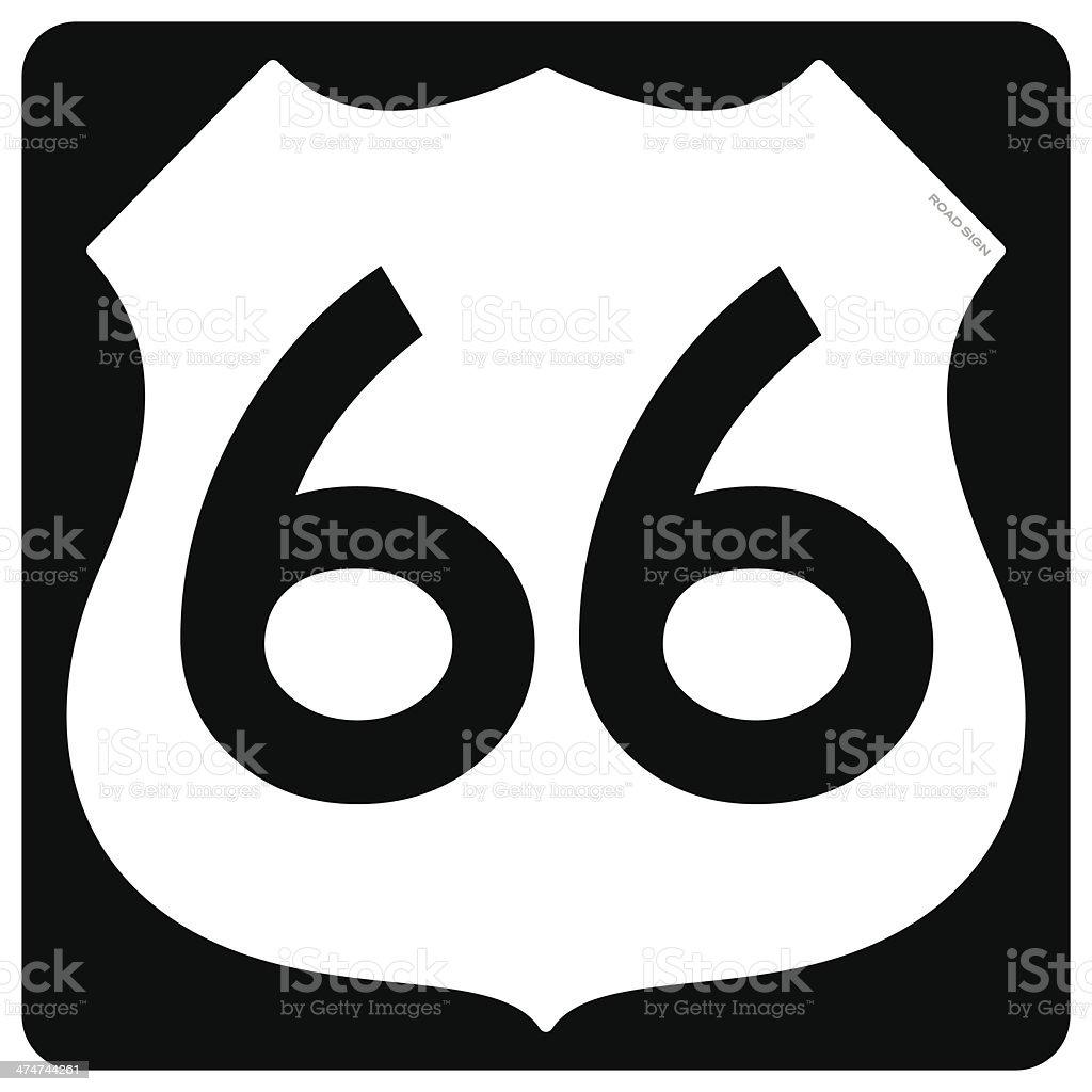 Route 66 Symbol vector art illustration