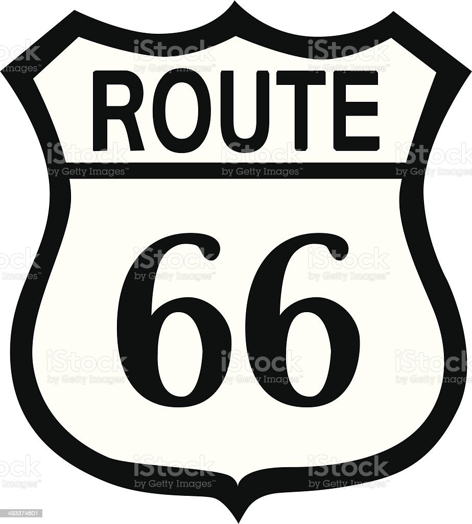 Route66 royalty-free stock vector art