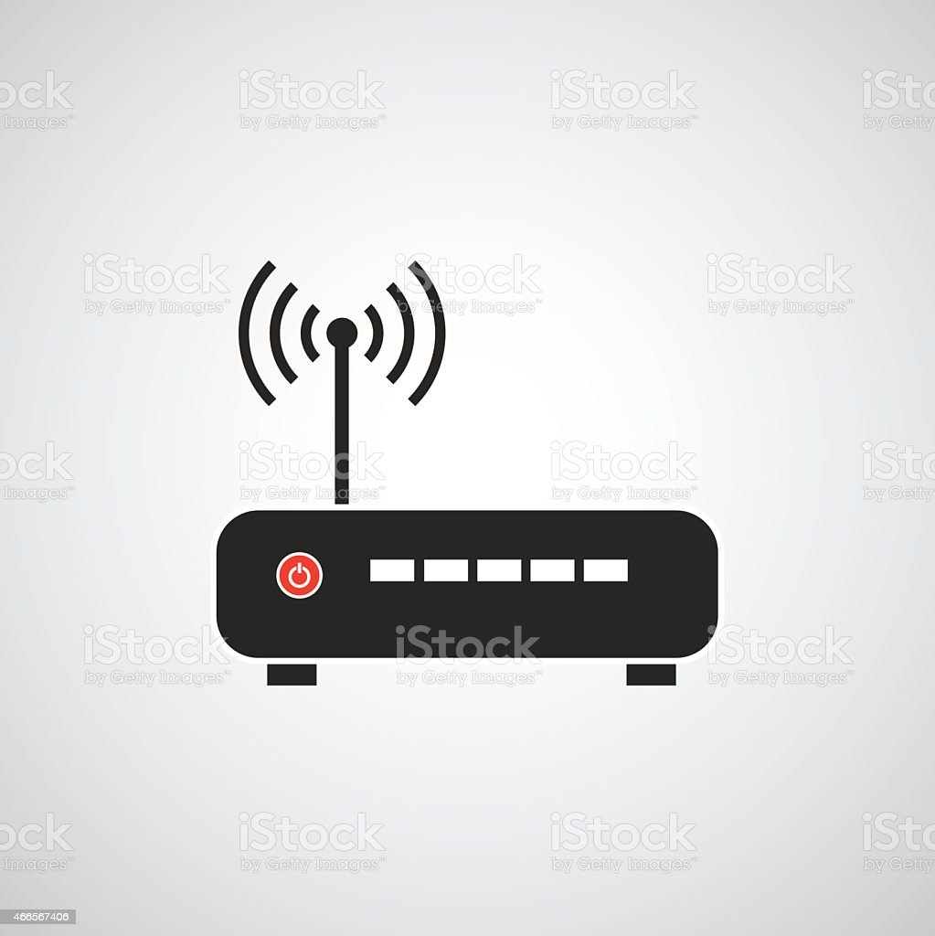 router vector icon vector art illustration