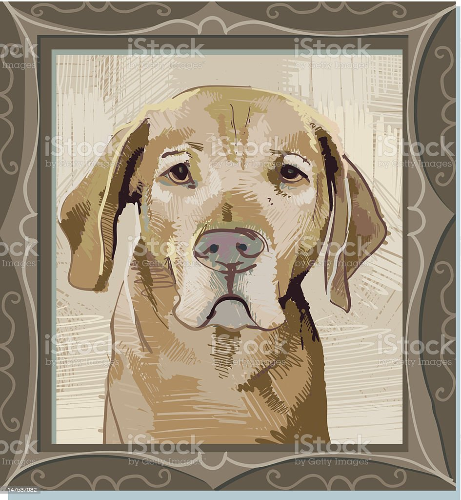 Rover's Formal Portrait royalty-free stock vector art
