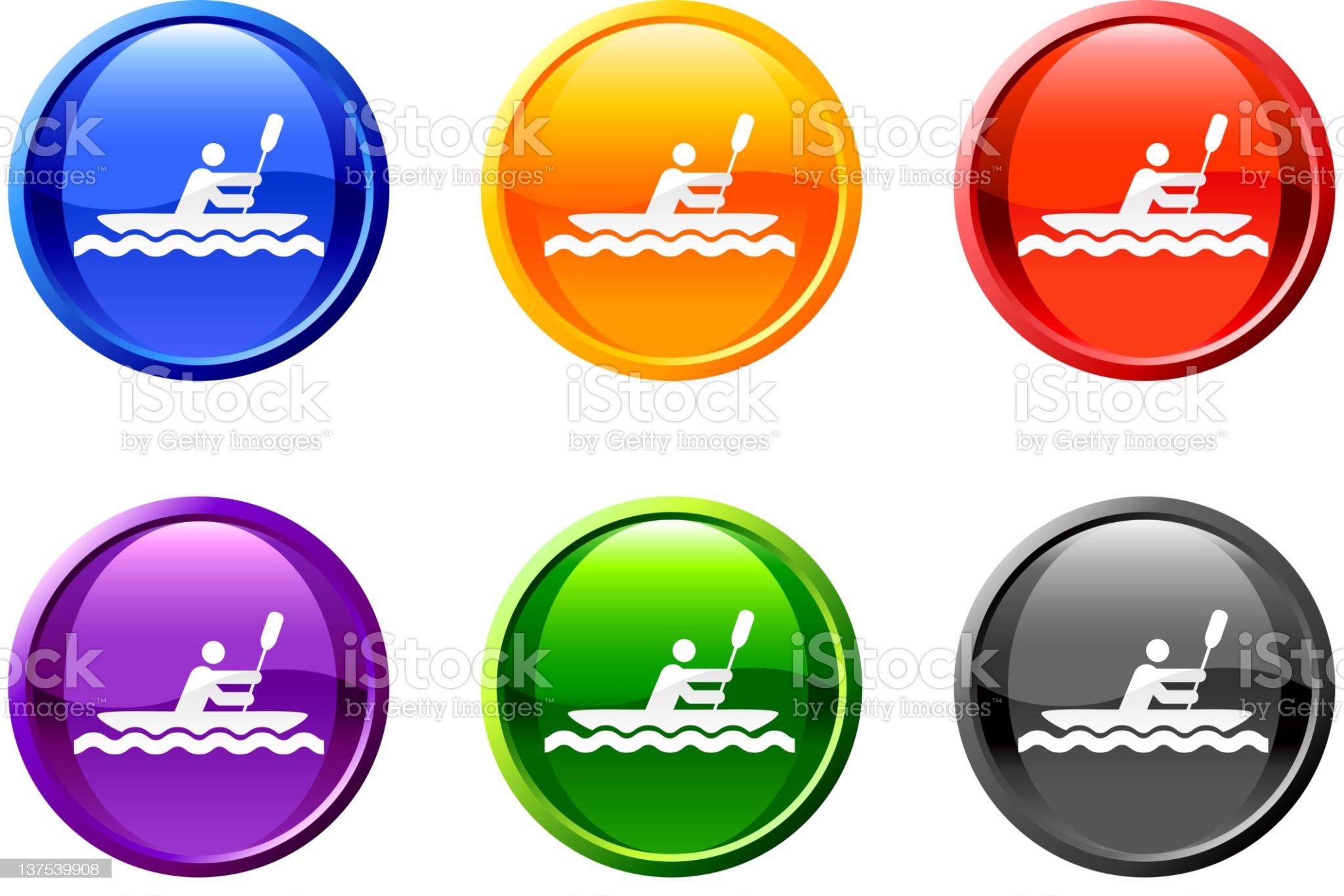 row boat button royalty free vector art royalty-free stock vector art