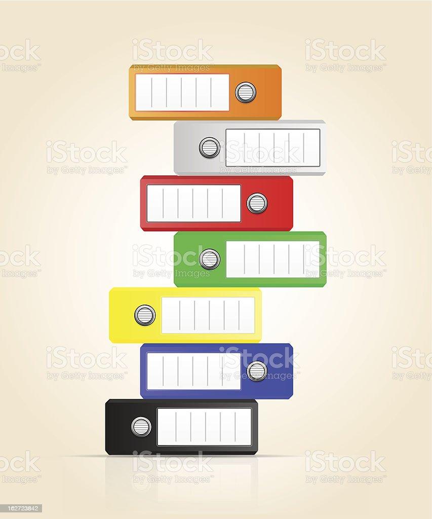 Row of color binders vector royalty-free stock vector art