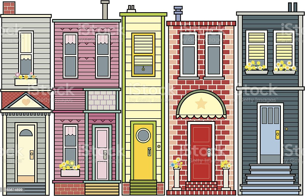 Row of Houses royalty-free stock vector art