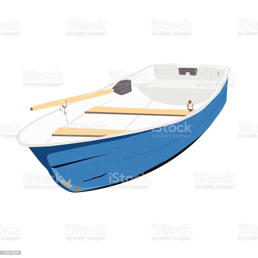 Rowing boat vector illustration vector art illustration