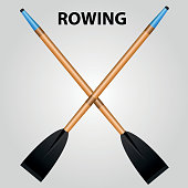 Rowing or Kayaking Sport - Illustration