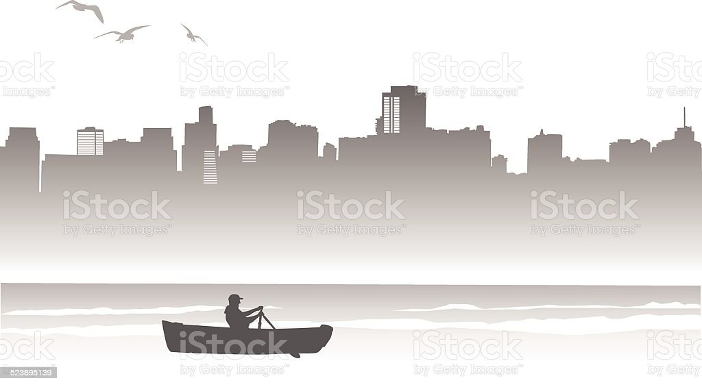 RowingRandy vector art illustration