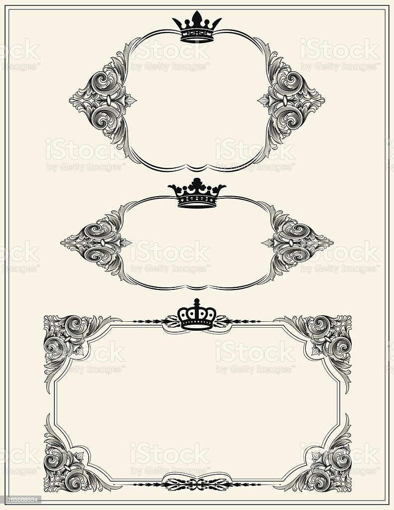 Royal Arabesque Banners royalty-free stock vector art