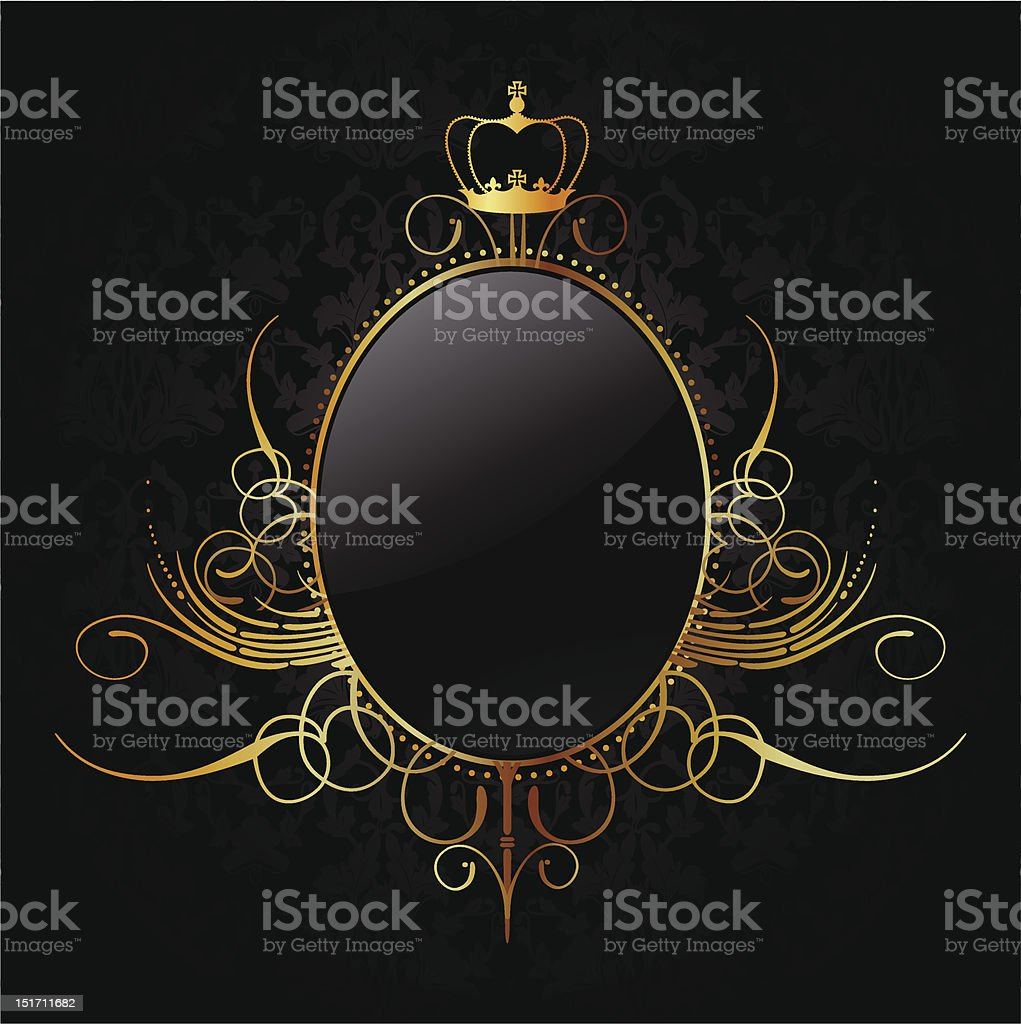 Royal background with golden frame. Vector royalty-free stock vector art