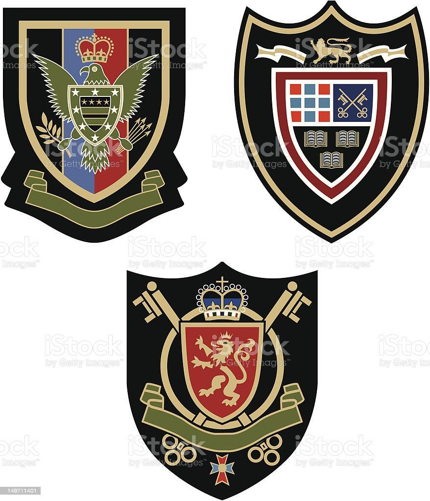 royal emblema distintivo illustrazione royalty-free