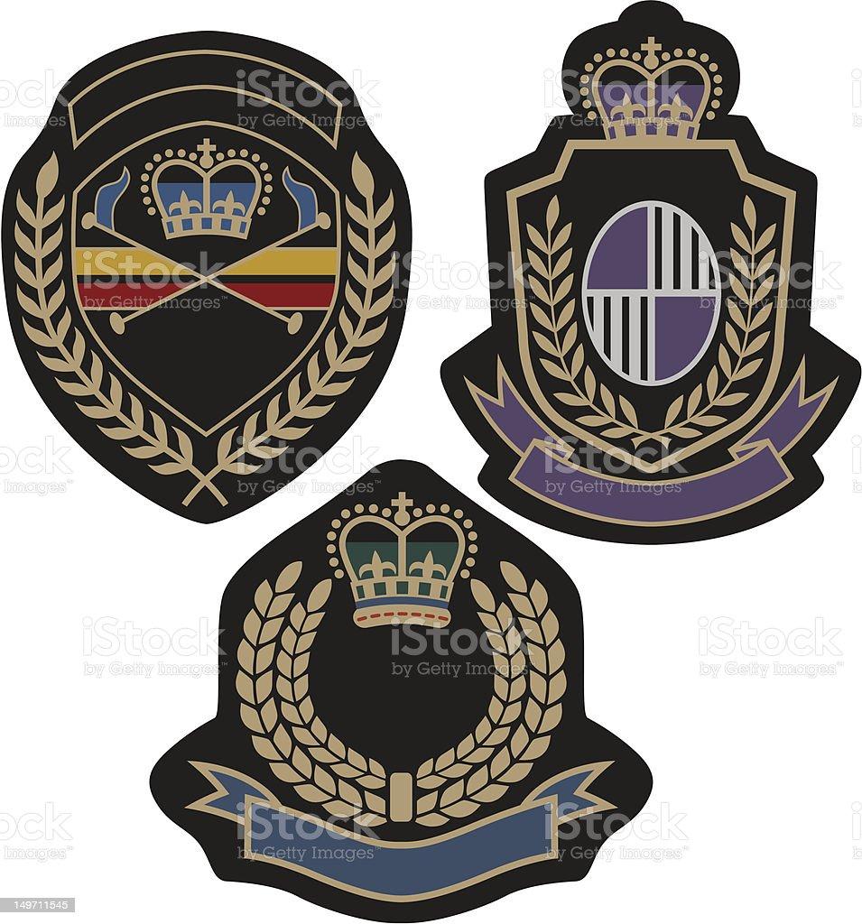 royal badge design della schermatura illustrazione royalty-free