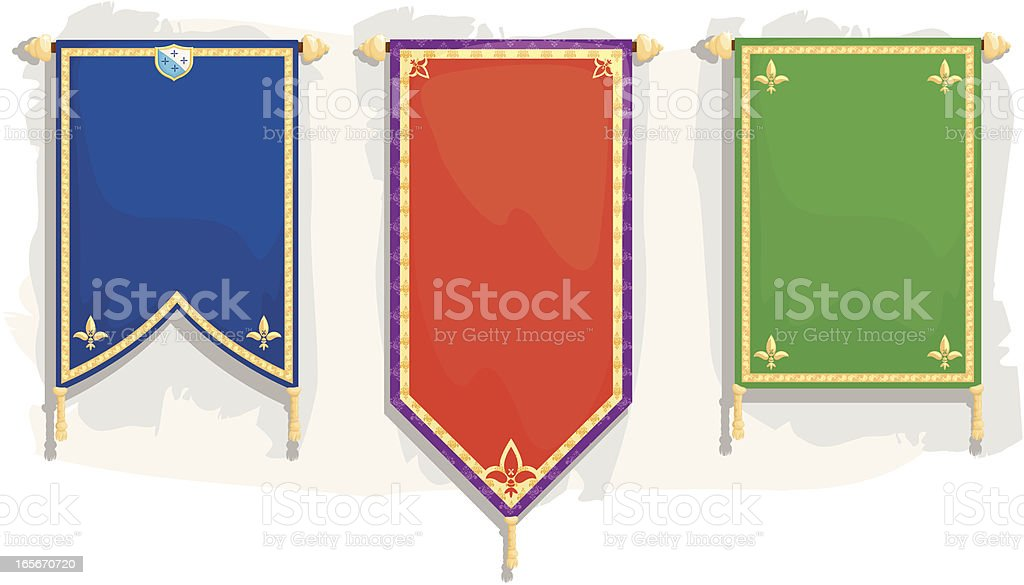 royal banners vector art illustration