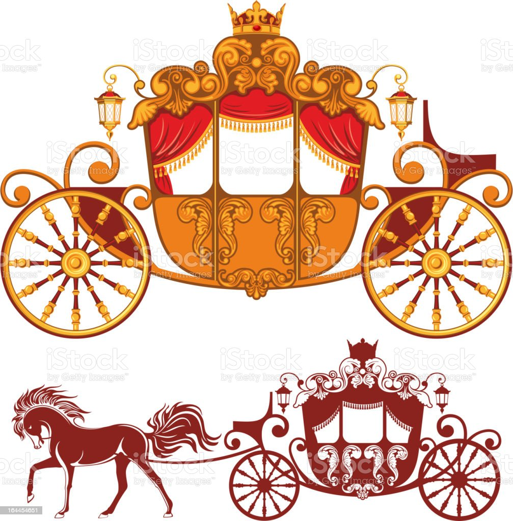 Royal carriage royalty-free stock vector art