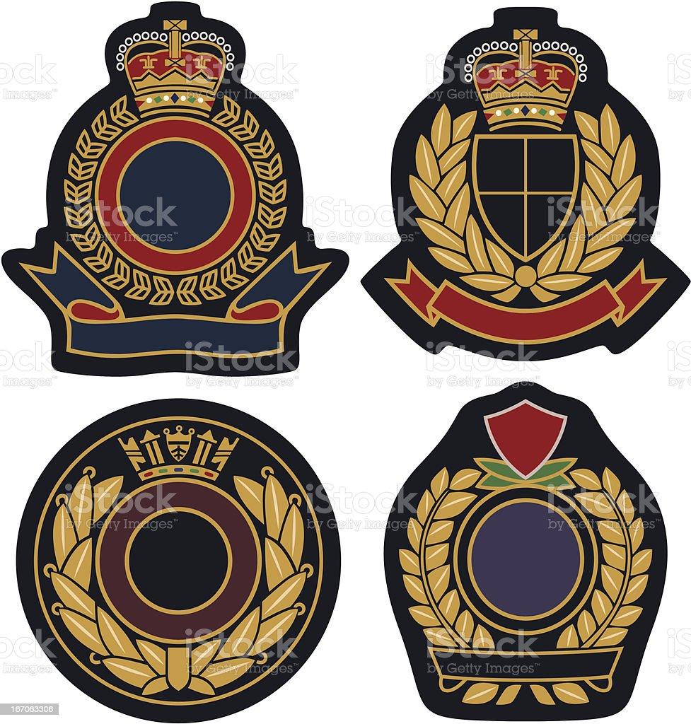 royal classic emblem badge shield royalty-free stock vector art