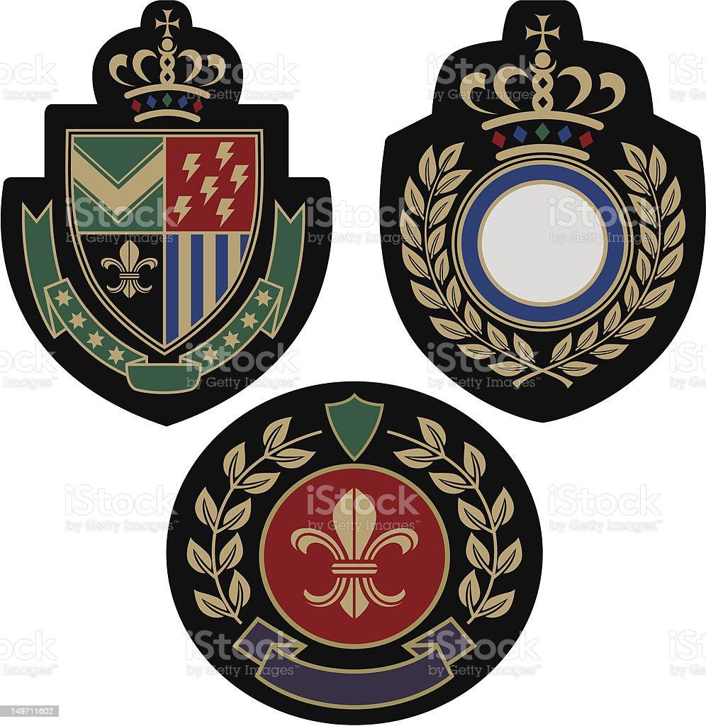 royal classical emblem shield royalty-free stock vector art