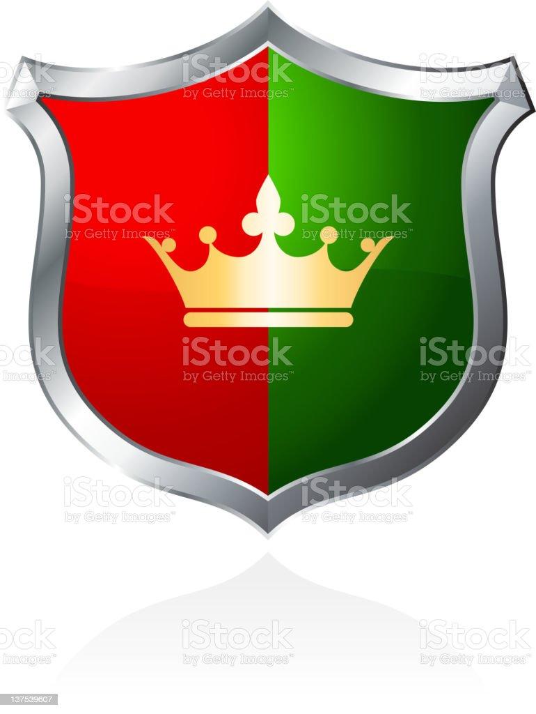 Royal crown sheild royalty-free stock vector art