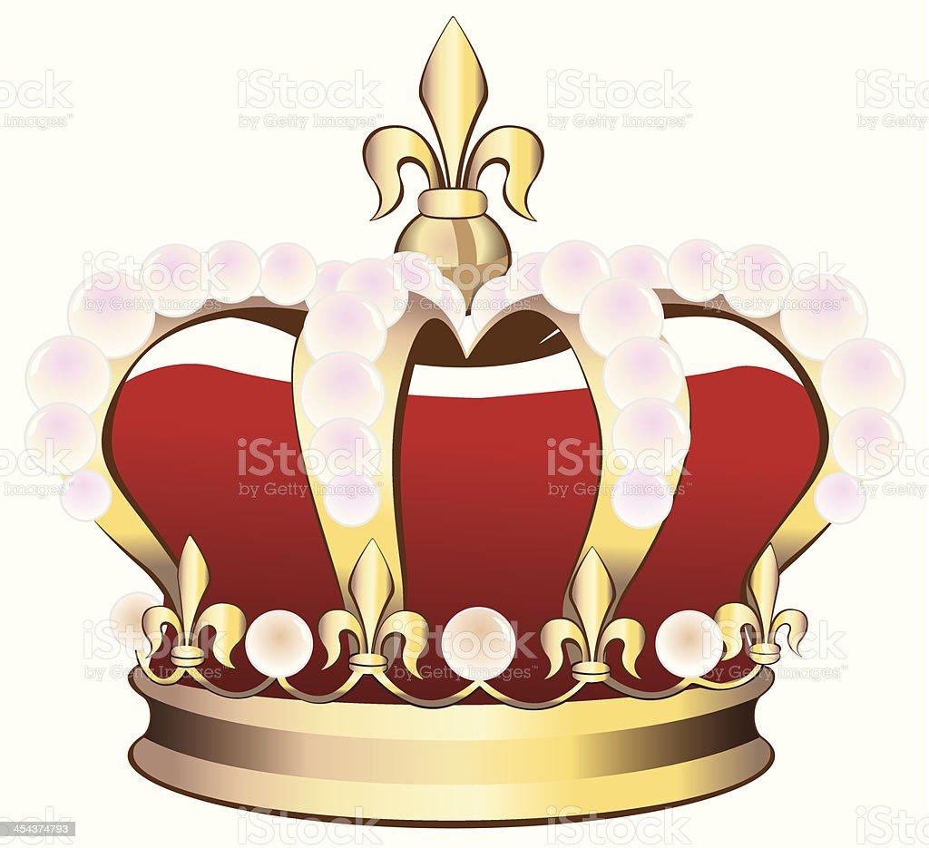 Royal Crown royalty-free stock vector art